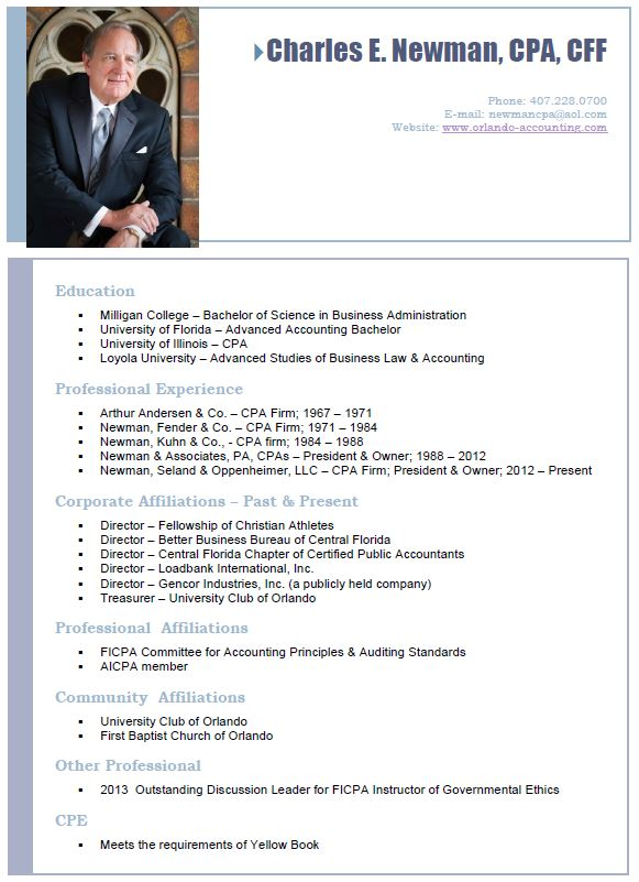 Newman, Seland & Oppenheimer, LLC | A CPA Firm | Charles E. Newman Page
